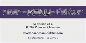 Sponsor TSV Bernau Fußballabteilung - Haar-Manu-Faktur