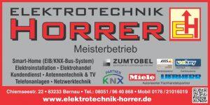 Sponsor TSV Bernau Fußballabteilung - Elektrotechnik Horrer
