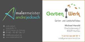 Sponsor TSV Bernau Fußballabteilung - Malermeister Jedosch & Gartenwerk Herold