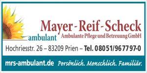 Sponsor TSV Bernau Fußballabteilung - Ambulante Pflege Mayer-Reif-Scheck