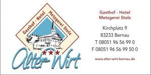 Sponsor TSV Bernau Fußballabteilung - Gasthof Hotel Metzgerei Stolz