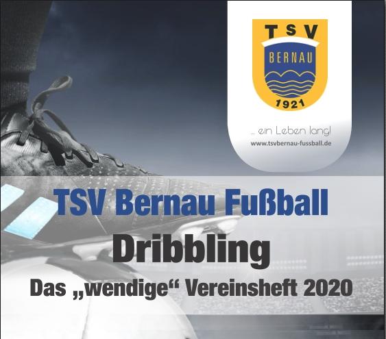 """Cover Vereinsheft """"Dribbling 2020"""" TSV Bernau Fußballabteilung"""