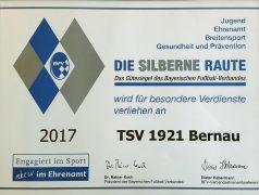 Silberne Raute 2017 TSV Bernau Fußballabteilung